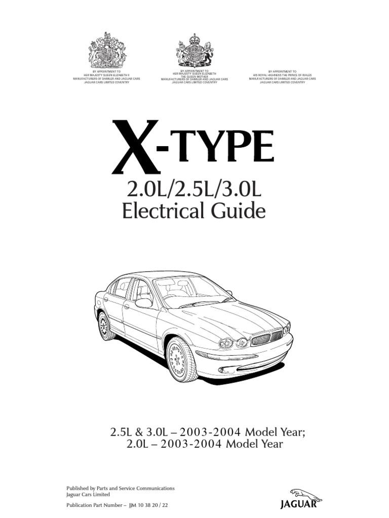 X-Type 2003 2004 Elec Guide