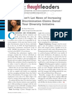 Diversity Journal | Don't Let News of Increasing Discrimination Claims Derail Your Diversity Initiative - May/June 2011