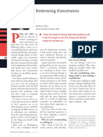 Diversity Journal   Embracing Constraints - May/June 2011