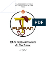 Qcm Supplementaires Biochimie - Purpan