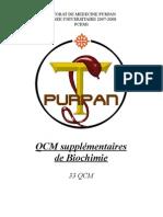 Qcm Supplementaires Biochimie - Purpan