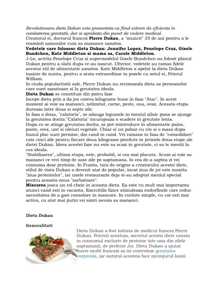 Totul despre Dieta Dukan: 4 faze | Meniu detaliat pe zile | Retete - vortecs.ro