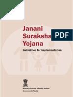 Janani Suraksha Yojana - Guidelines for Implementation - Ministry of Health and Family Welfare
