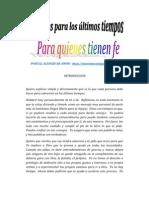 REMEDIOS PARA LOS ULTIMOS TIEMPOS | ALIANZA DE AMOR