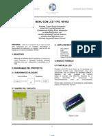 INFORME Nº1_MENU CON LCD Y PIC 18F452_BYRON MORALES
