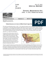 Tintina Resources on Course to Billion Pound Copper Resource in Montana