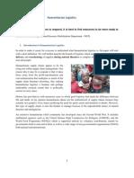 Humanitarian Logistics Project