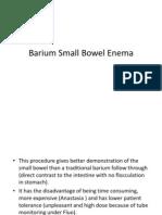 Barium Small Bowel Enema