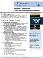 Talent is Overrated Book Summary