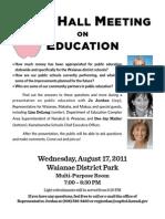 Jordan Education Flyer