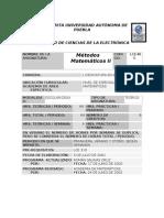_Métodos Matemáticos II