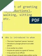 1,Social Etiquette (the Art of Walking, Sitting Etc.)