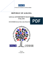 OSCE/ODIHR Election Observation Mission Albania LOCAL GOVERNMENT ELECTIONS Final Report  8 May 2011
