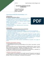 Cronograma Derecho Procesal Penal Comisión B 2011