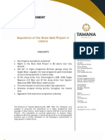 Tawana Resources NL Press Release August 16, 2011