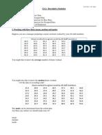 S02 Handout - Descriptive Statistics