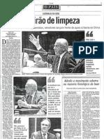 """""""Mutirão de limpeza"""", nO Globo"""