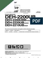 Pioneer Deh 2200ub Deh 2220ub Deh 2210ub