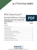 EDSML Course Handbook Term 1 - June 2011