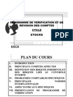 Programme de Verification Stocks 2009