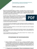 PROGRAMAS DE NECESSIDADES E DICAS DE DISTRIBUIÇÃO DE LAYOUT