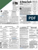 Aug 14 Bulletin