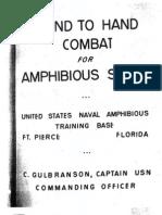 Hand-To-Hand Combat for Amphibious Scouts - United States Naval Amphibious Training Base FT. Pierce Florida; C, Gulbranson, Captain USN  1945