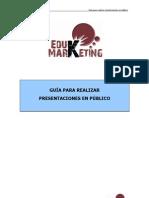 guía para realizar presentaciones en público