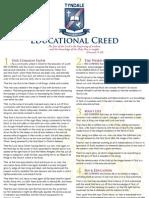 Tyndale Educational Creed