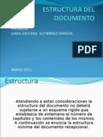 Estructura Del Documento Recep Azu 2011