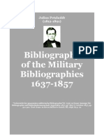 PETZHOLDT Bibliography of Military Bibliographies 1637-1857