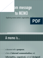 from MESSAGE to MEMO
