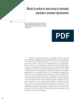 Metodo de analise de redes sociais de informação associadas a processos organizacionais