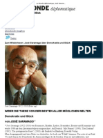 José Saramago ist tot. - Le Monde diplomatique