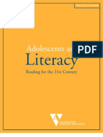 Adolescents and Literacy