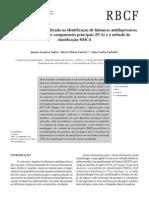 Análise multivariada aplicada na identificação de fármacos antidepressivos.