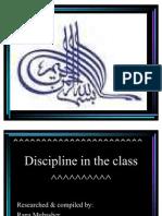 Discipline in the Class PPT Suffah Saviour School