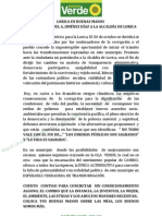 Programa de Gobierno Miguel Jimenez 2012 - 2015