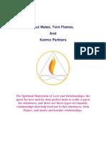 Soul Mates Twin Flames & Karmic Partners