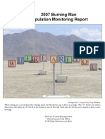 2007 Burning Man Stipulation Monitoring Report