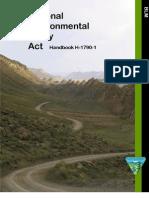 Bureau of Land Management National Environmental Policy Act Handbook H-1790-1