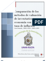 Comparacion de Metodos de Valuacion de Inventarios - Metodologia de La Investigacion