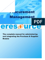 Supplier and Purchase Management in Eresource Erp