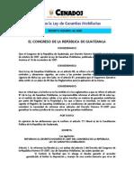 Decreto 046-2008 Reforma la Ley de Garantías Mobiliarias