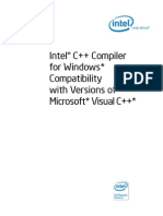 Intel C++ Compiler for Windows Compatibility