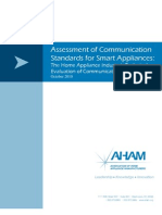 Assessment of Communication Standards for Smart Appliances