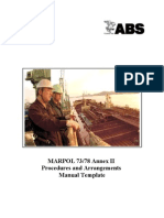 Marpol Annex II p&a Manual