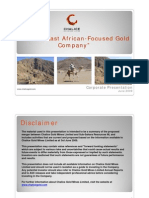 20090616CHNCorporatePresentation-ANewEastAfrican-focusedGoldCompany