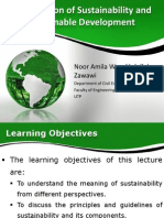 Intro of Sustainability and Sustainable Development