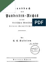 Handbuch des Pandecten-Rechts in einer kritischen Revision